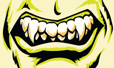 Stylized Monster mouth