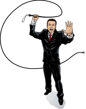Business man with whip Stock Vector - 8937884
