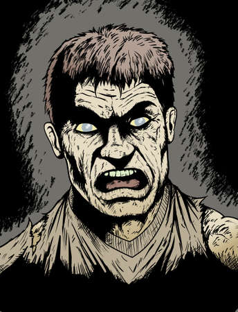 rotting: Angry, rotting Zombie hungry for human flesh Illustration