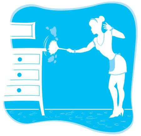ダスティング メイドの定型化された図面