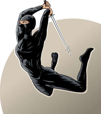katana: Ninja meisje met behulp van de gevreesde sprong aanval