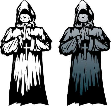 Stylized monk