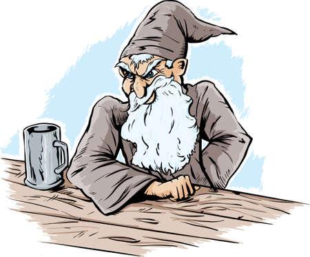wizard hat: Asistente enojado, dando un aspecto severo  Vectores