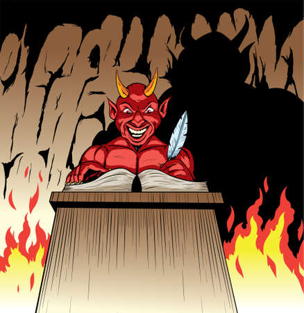 The Devil who is about to welcome someone Ilustrace