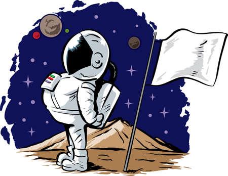 Astronaut on an alien planet  Vector
