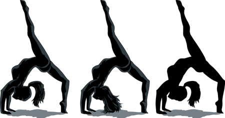 the gymnast: Backflip girl