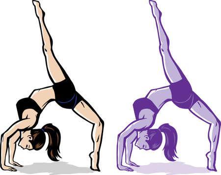 Stylized backflip girl