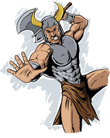 peleando: Guerrero Vikingo Vectores