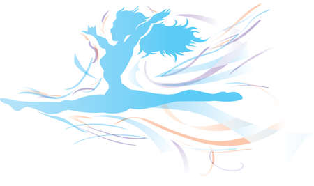 Free flowing Dancer  Stock Vector - 12496305
