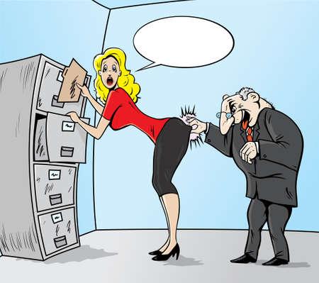 Sexual Harassment Illustration