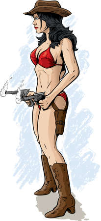 breast comic: Sexy cowgirl
