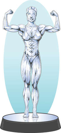competitor: Bodybuilder statue Illustration