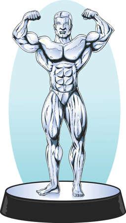 Bodybuilder statue Vettoriali