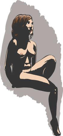 Vigilante desnudo Foto de archivo - 13418490