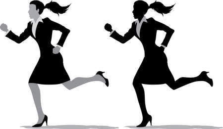 fear: Business women running