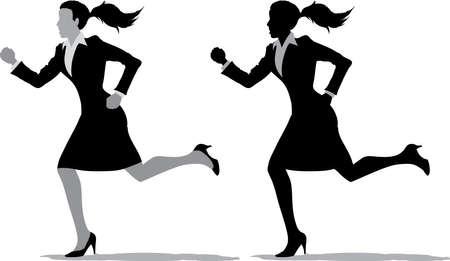 Business women running