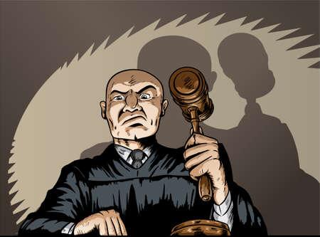 船尾の裁判官  イラスト・ベクター素材