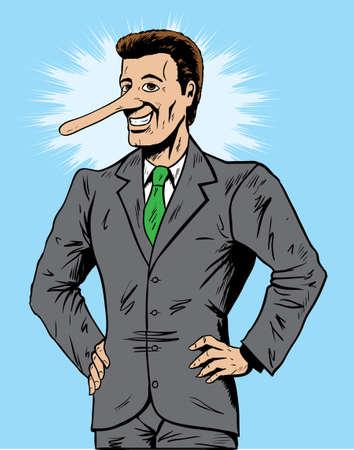 Vendedor de mentir o de negocios Ilustración de vector