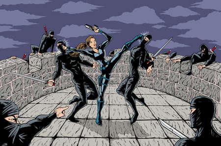 忍者の攻撃