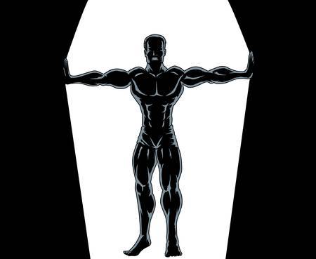 Esbozo de Sansón Ilustración de vector