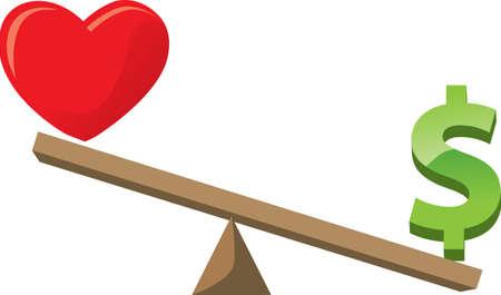 balancing: Healthlove versus wealth