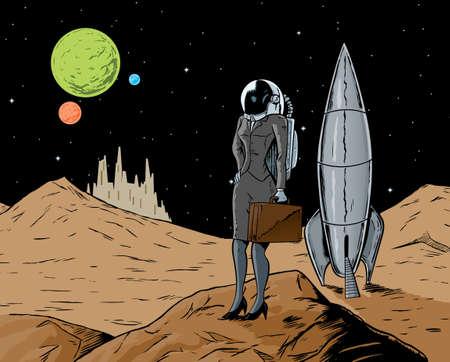비즈니스 우주 비행사