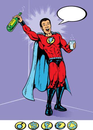 Party Hero Stock Illustratie