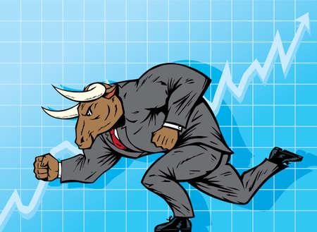 bulls: Bull market Illustration