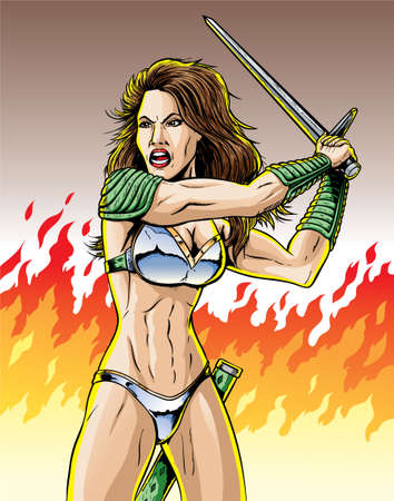 Warrior woman  Vector