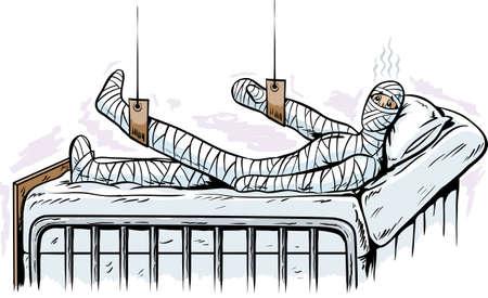Injured man Illustration