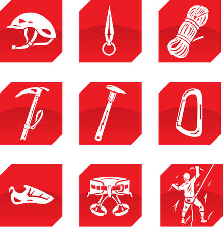 safety harness: climber icons