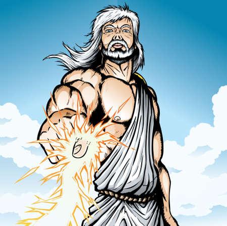 lightning bolt: Angry Zeus