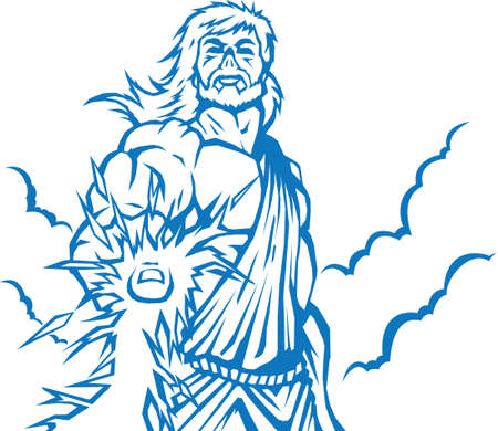 Angry Zeus Vector