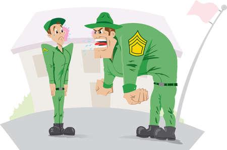 Wütend sergeant Standard-Bild - 14713571