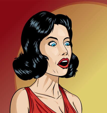 Surprised girl Ilustração