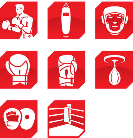 kick boxing: Boxing icons