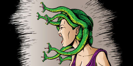 hissing: Angry Medusa