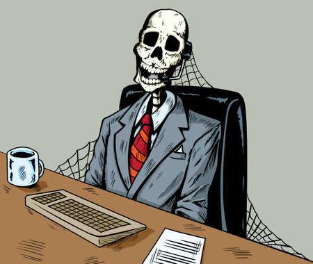 died: Muerto en call center Vectores
