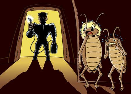 The exterminator  イラスト・ベクター素材