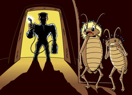 The exterminator Illustration