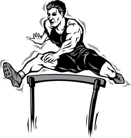 hurdling: Jumping athlete