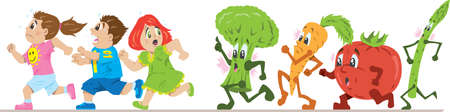 Scared of healthy eating Vector