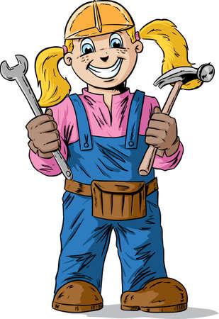Construction girl
