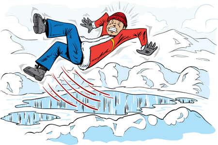 Slipping guy Illustration