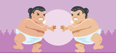 grappling: Sumo wrestlers