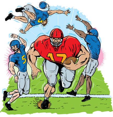 smaller: Giant Football player