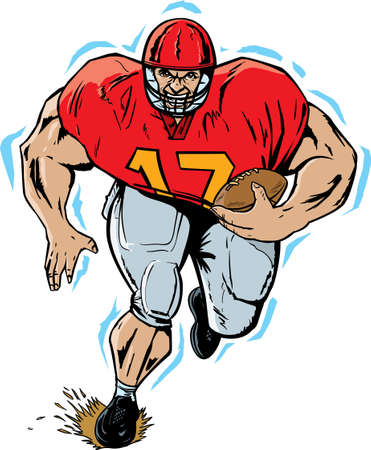 pigskin: huge Football player