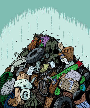 recycle trash: Garbage Dump