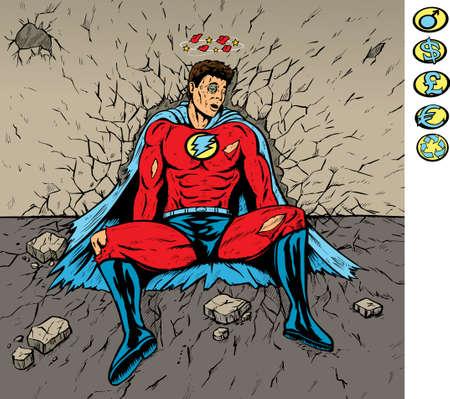 Beaten Hero Illusztráció