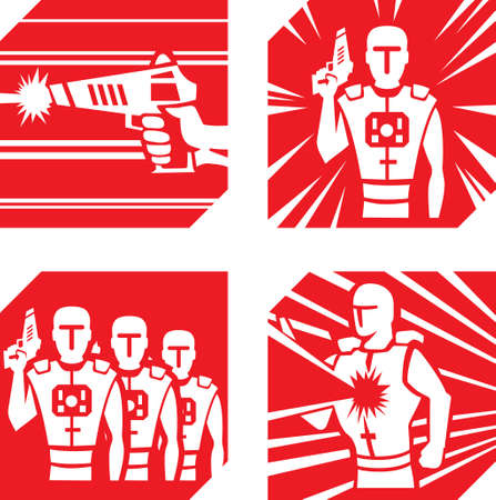 Laser Tag Icons  Vector